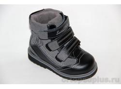 Ботинки 23-208-1 черн/сер
