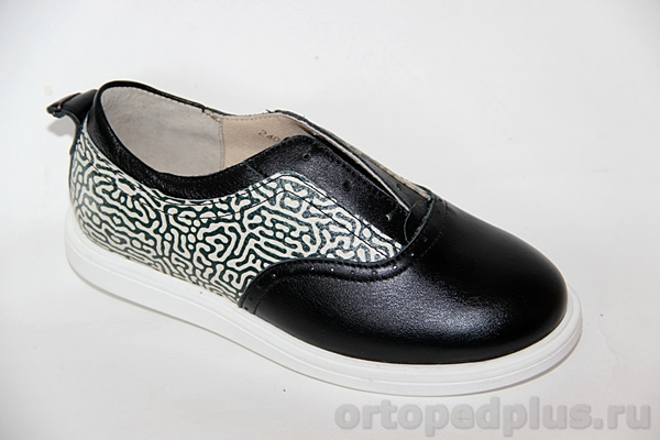 Ортопедическая обувь Туфли 24007 ЧЕЧЕТКА черный