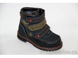 Ботинки 45-012 черный/хаки
