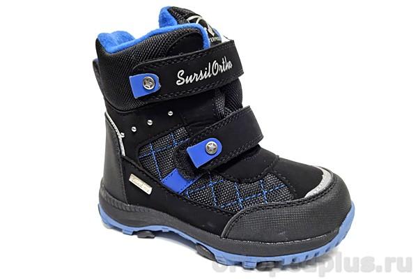 Ортопедическая обувь Ботинки 45-160 черный/синий