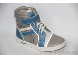 Ботинки 7001 серый/голубой/белый