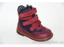 Ботинки 06-569 синий/бордо
