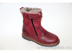 Ботинки зимние 06-766 бордовый