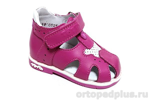 Ортопедическая обувь Туфли 078/1 фуксия/белый