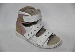 Туфли летние 10115-1 белый/розовый