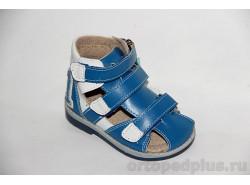 Туфли летние 10117-1 синий/белый