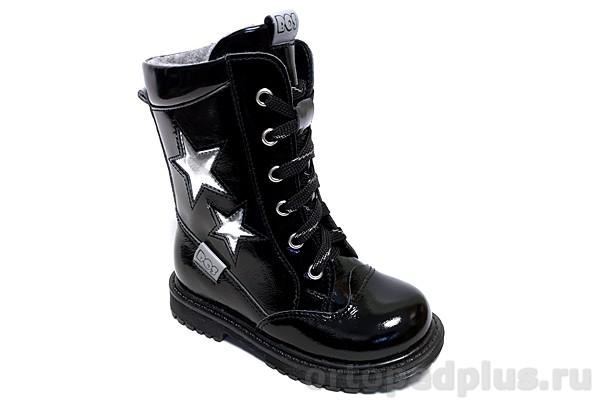 Ортопедическая обувь Ботинки 183-12 черный лак
