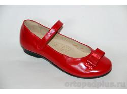 Туфли школьные 21168 красный