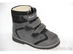 Ботинки 23-210 черный/серый
