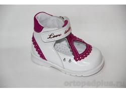 Туфли 036 белый/фуксия