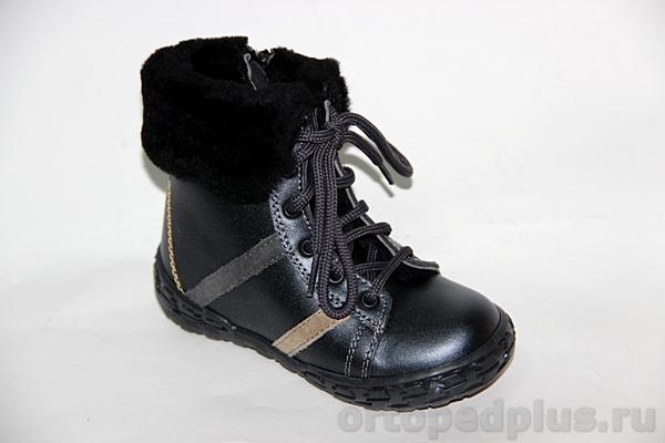 Ортопедическая обувь Ботинки 1016 т.синий/перламутр
