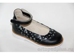 Туфли 25001 черный/цветы