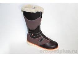 Ботинки 43-068 коричневый/т.коричневый