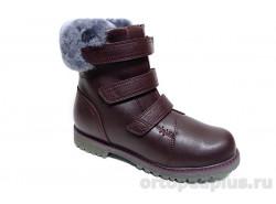 Ботинки 45-098 бордовый
