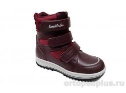 Ботинки 45-132 бордовый