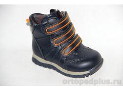 Ботинки 72562 т.син/оранж