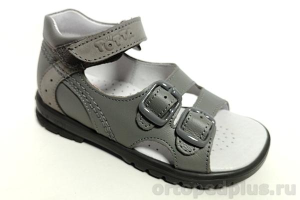 Ортопедическая обувь Сандалии М10212 серый