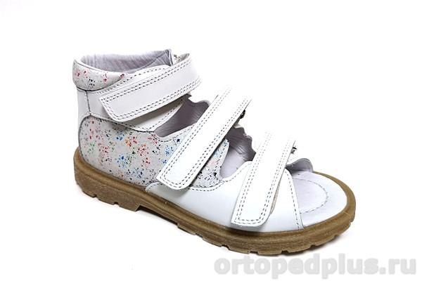 Ортопедическая обувь Сандалии 21014 белый/мультиколор