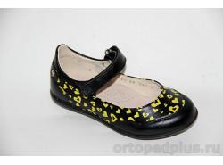 Туфли 21172 черный/желтый