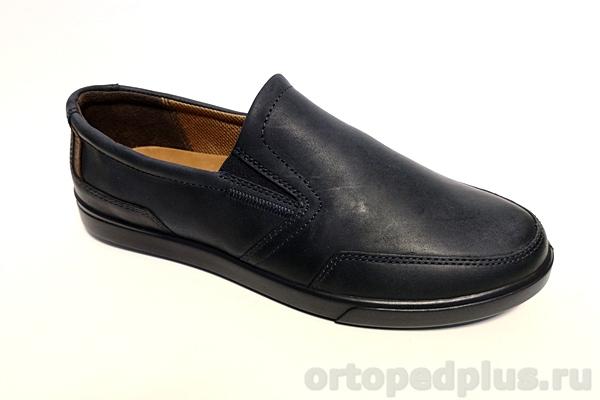Комфортная обувь Туфли мужские 1000 син/рыжий