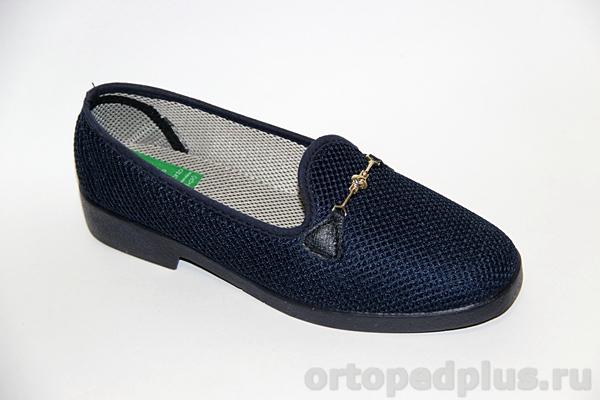 Комфортная обувь Туфли текстильные 179_1380I_805 синий