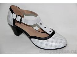 Туфли женские 18-070/3 бел-черн