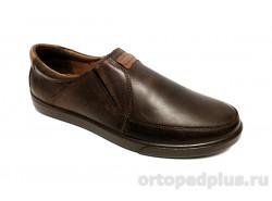 Туфли мужские 1001 рыжий/коричневый