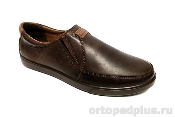 Комфортная обувь Туфли мужские 1001 рыжий/коричневый