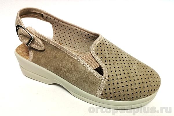 Комфортная обувь Босоножки текстильные 21898 бежевый