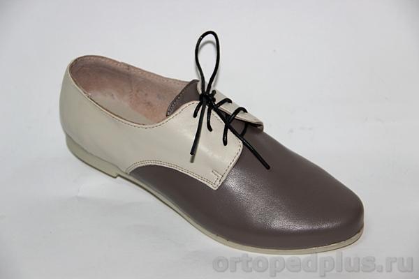 Комфортная обувь Туфли женские 58-074/2 беж-т.беж