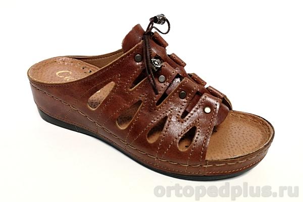 Комфортная обувь Сабо женские 008 коричневый