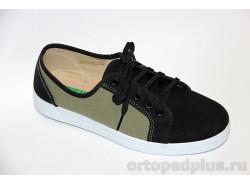 П/ботинки мужские 179_DC4457X10_057 черный/хаки