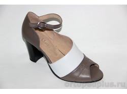 Туфли женские 19-055/2 беж/бел