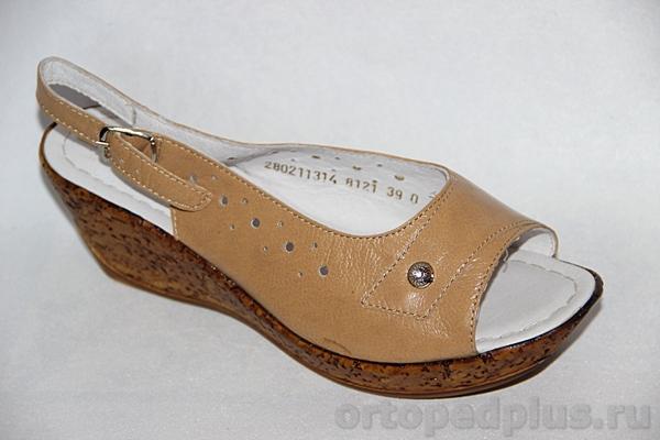 Комфортная обувь Босоножки женские 8121 бежевый