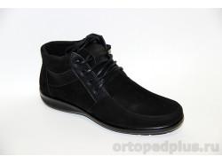 П/ботинки муж. 9702-2 черный нубук