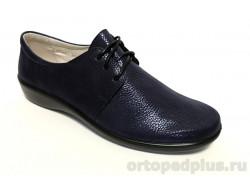 Туфли женские 3222 черный/серебро