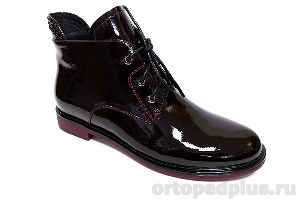 Комфортная обувь Ботинки женские YZ-11-13-168 бордовый лак