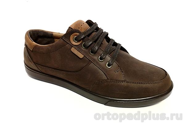 Комфортная обувь Туфли мужские 1012 коричневый/рыжий