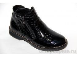 Ботинки жен. 132-2 2м черный лак