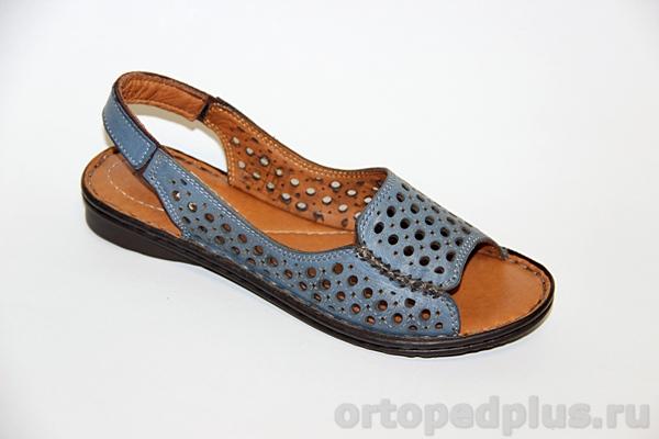Комфортная обувь Босоножки 160114_LL_32_JEANS_BLUE_LEATHER