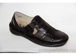 Туфли летние мужские 496 коричневый