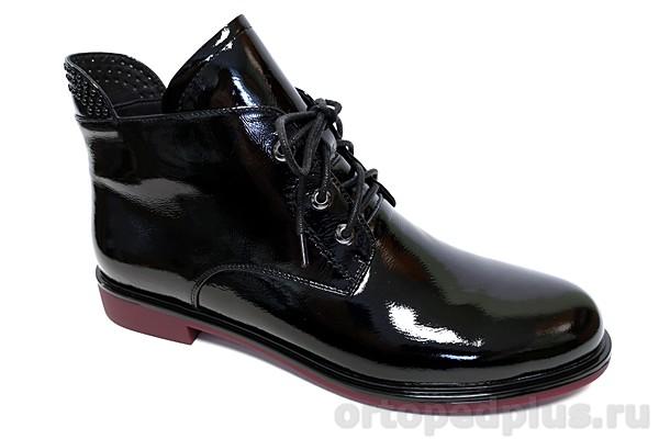 Комфортная обувь Ботинки женские YZ-11-3-168 черный лак