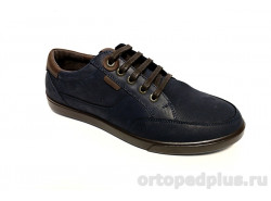 Туфли мужские 1012 синий/коричневый
