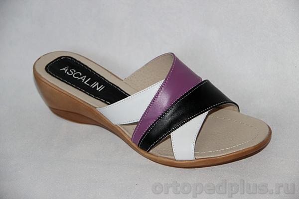 Комфортная обувь Босоножки Q 1372 белый/черный/сиреневый