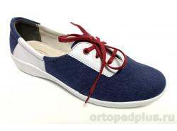 Туфли женские 2023 синий/белый