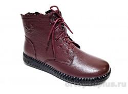 Ботинки LQ5005-3 бордовый