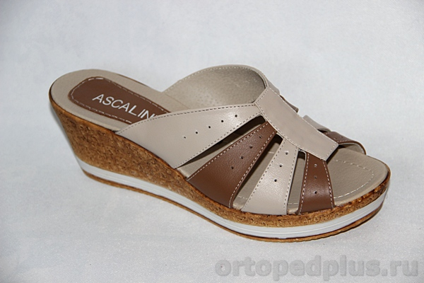 Комфортная обувь Босоножки Q 1412 бежевый/т.бежевый