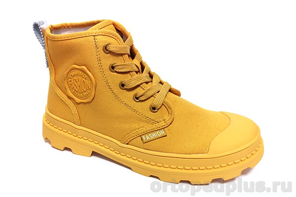 Комфортная обувь Кеды женские 13-1-7-68 желтый