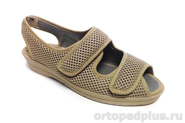 Комфортная обувь Босоножки текстильные 179_495I_400 бежевый
