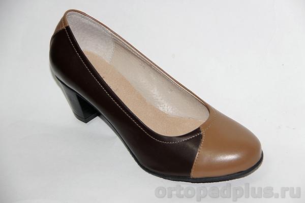 Комфортная обувь Туфли женские 38-063/2 св.кор/тем.кор